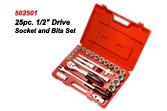 502501 25pc.Drive Socket Set
