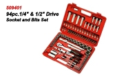Drive Socket & Bits Set 509401 94pc.