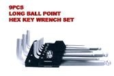 Long Ball Point Hex Key Wrench Set - KS-HX09LB